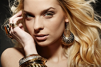 model with jewelry