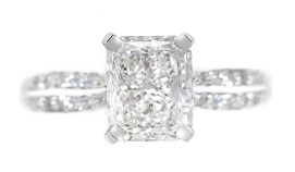 pave princess cut diamond engagement rings